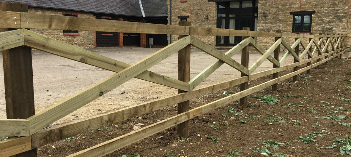 bespoke post and rail fencing